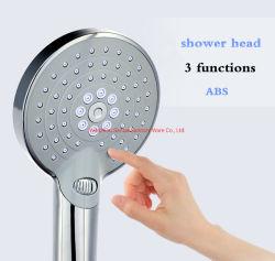 Volle schwarze dünne runde einzelne Funktions-Handmattdusche mit schwarzem Dusche-Halter-Dusche-Set
