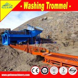 Strumentazione alluvionale di lavaggio di estrazione dell'oro della sabbia della pianta del crivello a tamburo del giacimento detritico mobile