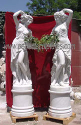 Geschnitzte Marmorstatue-schnitzende Skulptur-Garten-Steindekoration (SY-X1116)