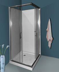 غرفة دش بسيطة في ساحة الحمام مع لوح ظهر (A03003)