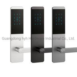 Una buena calidad de un diseño simple material de aluminio Apartamento clave de tarjeta inteligente con cerradura de puerta Ttlock Contraseña