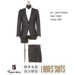 2 Piezas OEM de solapa de pico de la mujer traje de negocios