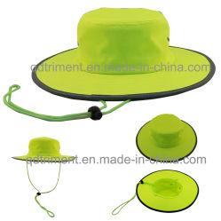 100% Polyester microfibre pêcheur de loisirs de plein air le godet Hat (TMBH0705)