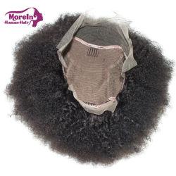 Los encajes de Afro peluca de cabello virgen mayorista Frontal tapas para hacer frente las pelucas de encaje