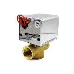 ばねリターン機能の三方2ワイヤーモーターを備えられた弁