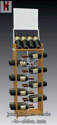Металлические вино дисплей для установки в стойку - 4 уровней/ Держатель для бутылок (W2015)