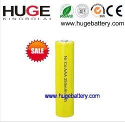 1.2V AAA 350mAh NiCdの再充電可能なMP3プレーヤー電池(ニッケルのカドミウム)
