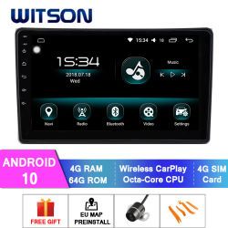 Multimedia automatiche del Android 10 di Witson per la radio 2002-2008 del veicolo di Audi A4 S4 RS4 GPS Navi Carplay Bluetooth