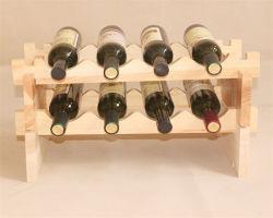 Couleur naturelle du vin en bois de pin fait sur mesure avec la taille de rack
