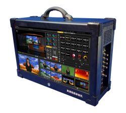 HD 4- Mélangeur vidéo en temps réel 3D ensembles virtuels Scene Live Streaming / HD écran vert Chroma Key Live Switcher /Trackless studio virtuel Mélangeur vidéo en direct