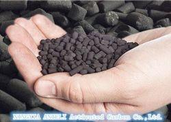 H2S dépose imprégnés de biogaz de boulettes de charbon activé Traitement Air purification et de purification de l'eau