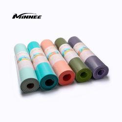 Kundenspezifische Firmenzeichen 4/6/8mm bunte TPE-Yoga-Matte (TPE-Rohstoff)