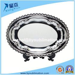 Version imprimable la vaisselle de table ovale 10pouces Sublimation plaque Matal