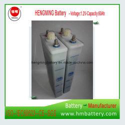 Gn60 60ah 1,2V Faible taux de décharge des piles NiCd pile alcaline pour UPS