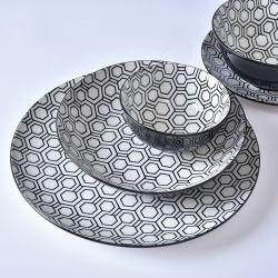 Luxury Home Vajilla almohadilla de ensalada impresión Vajilla de boda personalizada Platos porcelana China porcelana cerámica vajilla Juegos