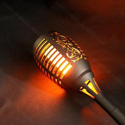 Maçarico de chama trémula Solar LED acende luz decorativa da paisagem exterior Lâmpada Jardim Solar