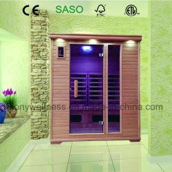3 Лицо до сих пор инфракрасная сауна дом для использования в помещениях с керамическим покрытием и свечи предпускового подогрева