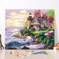 [وتركلور] [أيل كلور] صورة زيتيّة يعيش غرفة زخرفة 3 قطعة زاهية عالم صورة جدار فنية على نوع خيش