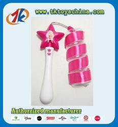 승진 별 춤 리본 지팡이 아이를 위한 플라스틱 춤 지팡이 장난감