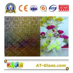 4mm, 5 mm de verre à motifs Flora-Bronze/Flora-Dark verre à motifs bleu