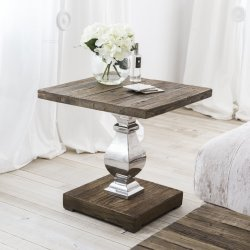 Piccola Tabella di legno del lato della lampada del bicromato di potassio del metallo
