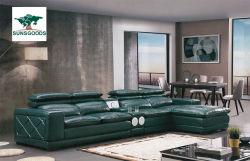 Prix de gros de l'Italie moderne de la table en tissu cuir/ coin canapé mobilier de maison