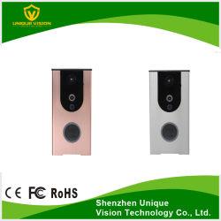 2.4GHz Wireless WiFi inteligente mirilla apoyo Timbre Video Audio bidireccional y la tarjeta SD