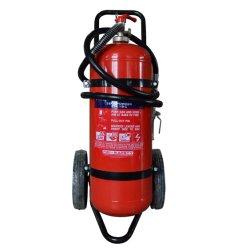 Polvo extintor de incendios con ruedas de 25kg.