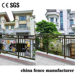 Décoration de jardin balustrade en fer en aluminium moulé personnalisé pour la sécurité