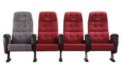4D 5D 공립학교 교회 강당 극장 영화 영화관 의자를 도로 밀치십시오