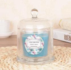 Di campana di vetro di vetro di alta quantità con il coperchio per la fabbricazione profumata della candela
