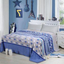 Star Pattern Flannel Fleece Blanket/ Flannel Fleece Bedding