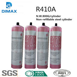 Gas Refrigerant R410A Freon in piccola latta (650g, 5KG, 11.3KG ecc.)