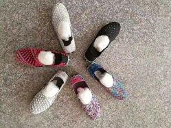 Ventes en gros Mesdames Lasual tissu tissé en usine de chaussures Chaussures supérieur, Semi-Production, tissent Upper