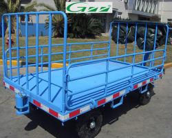 Les bagages d'aéroport transportent en charrette la remorque de chariot