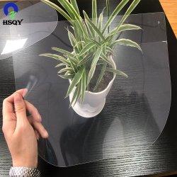 Pellicola trasparente in plastica acrilica PET/APET in PVC anti-nebbia per il viso protettivo Visiera
