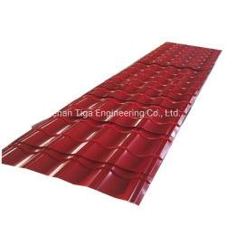 Rotes glasig-glänzendes PPGI strich glasig-glänzende Metalleisen-Platten-Panel-Fliesen vor