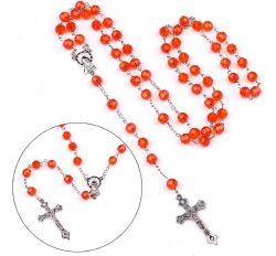 Verre en cristal Rosaire Crucifix Croix catholique pour la prière de perles