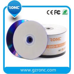 印刷できる白いインクジェットブランクDVD-Rディスク16X