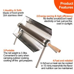Нержавеющая сталь вакуумная трубка солнечной печи барбекю