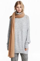 Moda Mujer suéter largo cuello tortuga grande