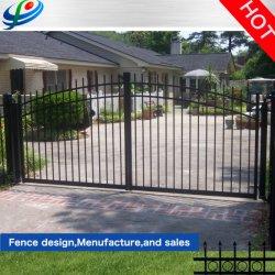 Aluminio ornamental de jardín arco de giro de cerco puerta/puerta de entrada/puerta automática/Puerta deslizante para la casa y jardín/patio/Villa