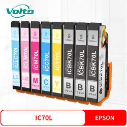 Compatible Epson Cartucho de tinta de color de IC70 para la EP-775AW UN 805AW UN Ar 905EP-976F3 906 f 806AW Ab Ar 776 UN 706A 306