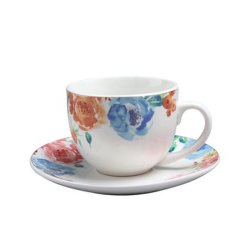 工場供給のコーヒーカップ・アンド・ソーサーの一定の良い磁器の一定の陶磁器のティーカップセット