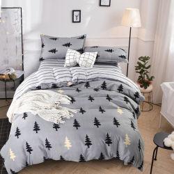 3pcs Single Doble cama King en línea impreso en el mercado mayorista de Hogar de poliéster sábanas usadas