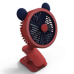 W8 Cartoon Clip ventilateur ventilateur Ventilateur de mini-ordinateur de poche Accueil Bureau ventilateur rechargeables USB