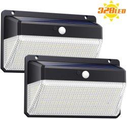 Usine Newes this 2020 lumières solaires Outdoor 328 Sécurité solaire LED du capteur de mouvement des feux de mur solaire lumières Super Bright lampe solaire sans fil étanche