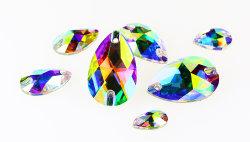 Commerce de gros Crystal coudre sur Flatback, strass pour accessoires du vêtement