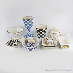 Professionele producten Staal Emaille Kookware Set, Emaille Craft, Mok, Food Container, Keukengerei