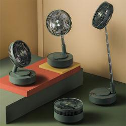 Wiederaufladbare Luftreiniger Luftkühlung höhenverstellbar leise faltbare ABS Kunststoff Elektrischer Standventilator, Hohe Drehzahl